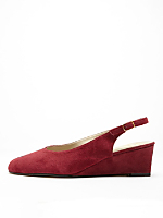 Suede Slingback Wedge