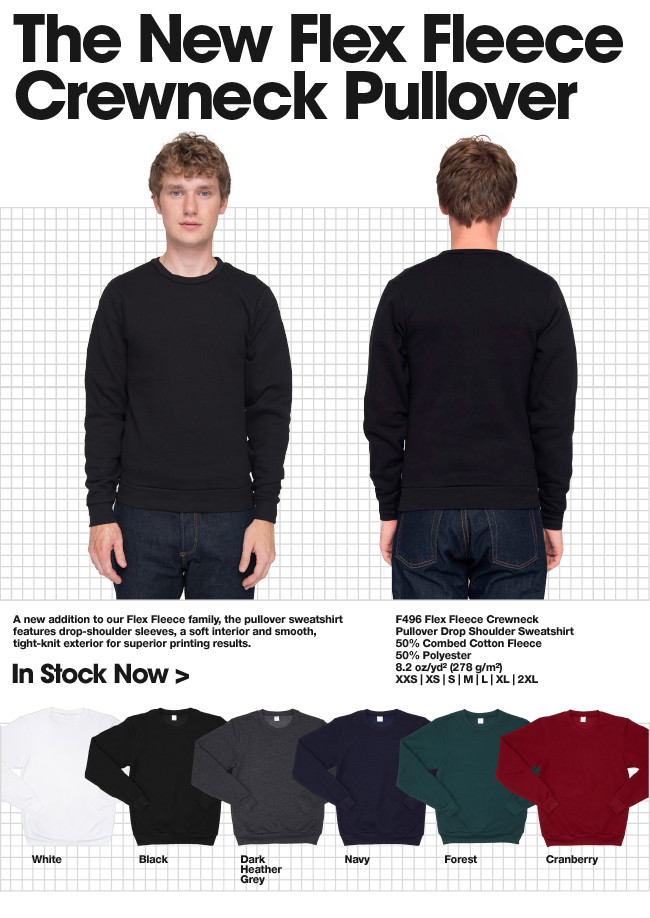 New to Wholesale: The Flex Fleece Crewneck Pullover