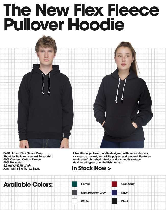 New To Wholesale: The Flex Fleece Pullover Hoodie