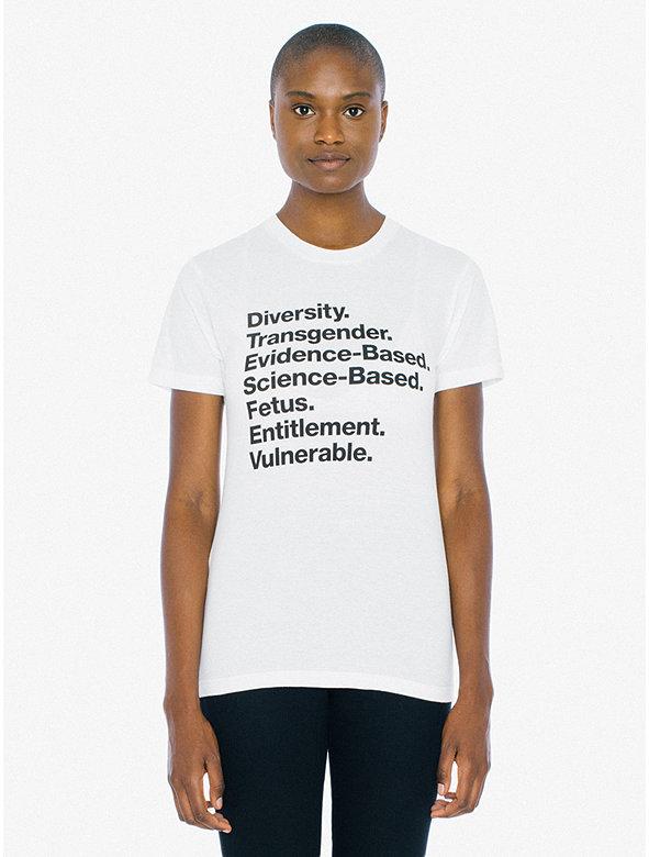 Unisex Words Matter 50/50 T-Shirt