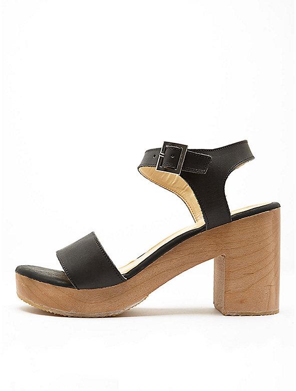 Wooden Heel Sandal