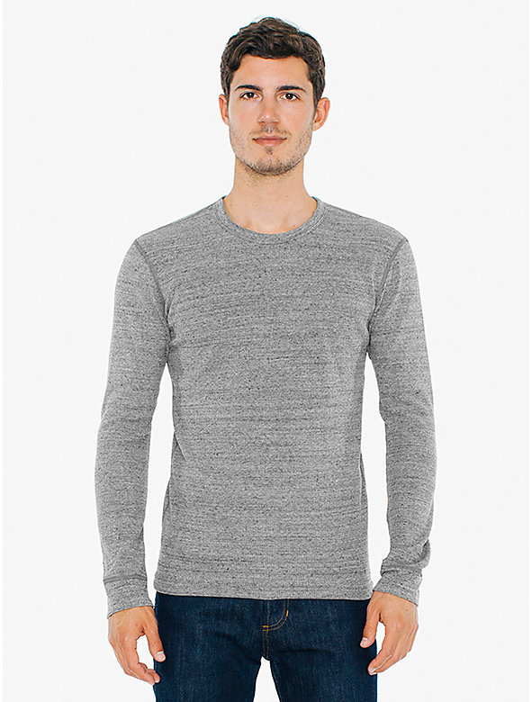 Waffle Thermal Crewneck Long Sleeve T-Shirt