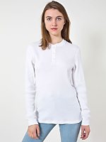 Unisex Classic Thermal Long Sleeve Henley