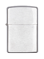 Zippo Lighter - Brush Finish Chrome