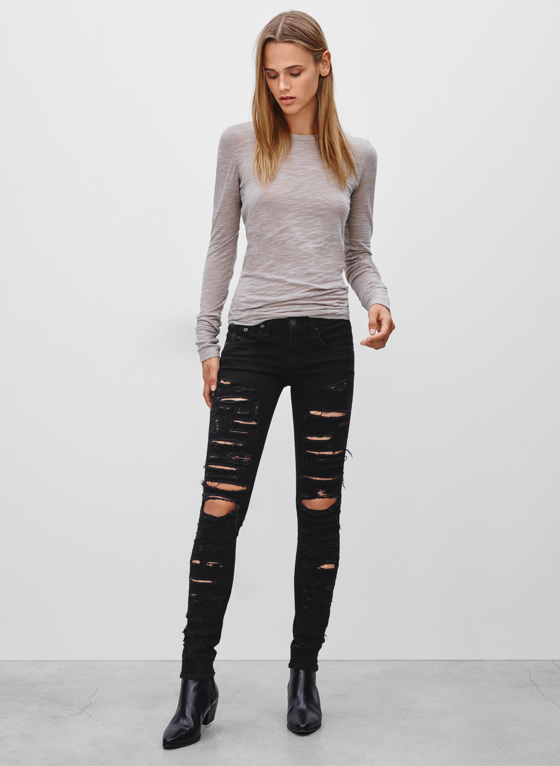 & Bone/JEAN THRASHER BLACK | Aritzia