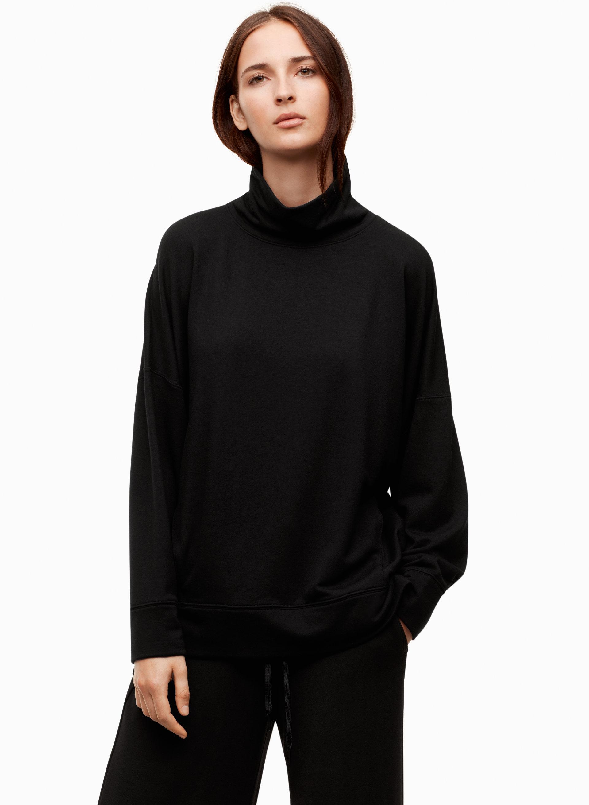 Tight Black Turtleneck Sweater