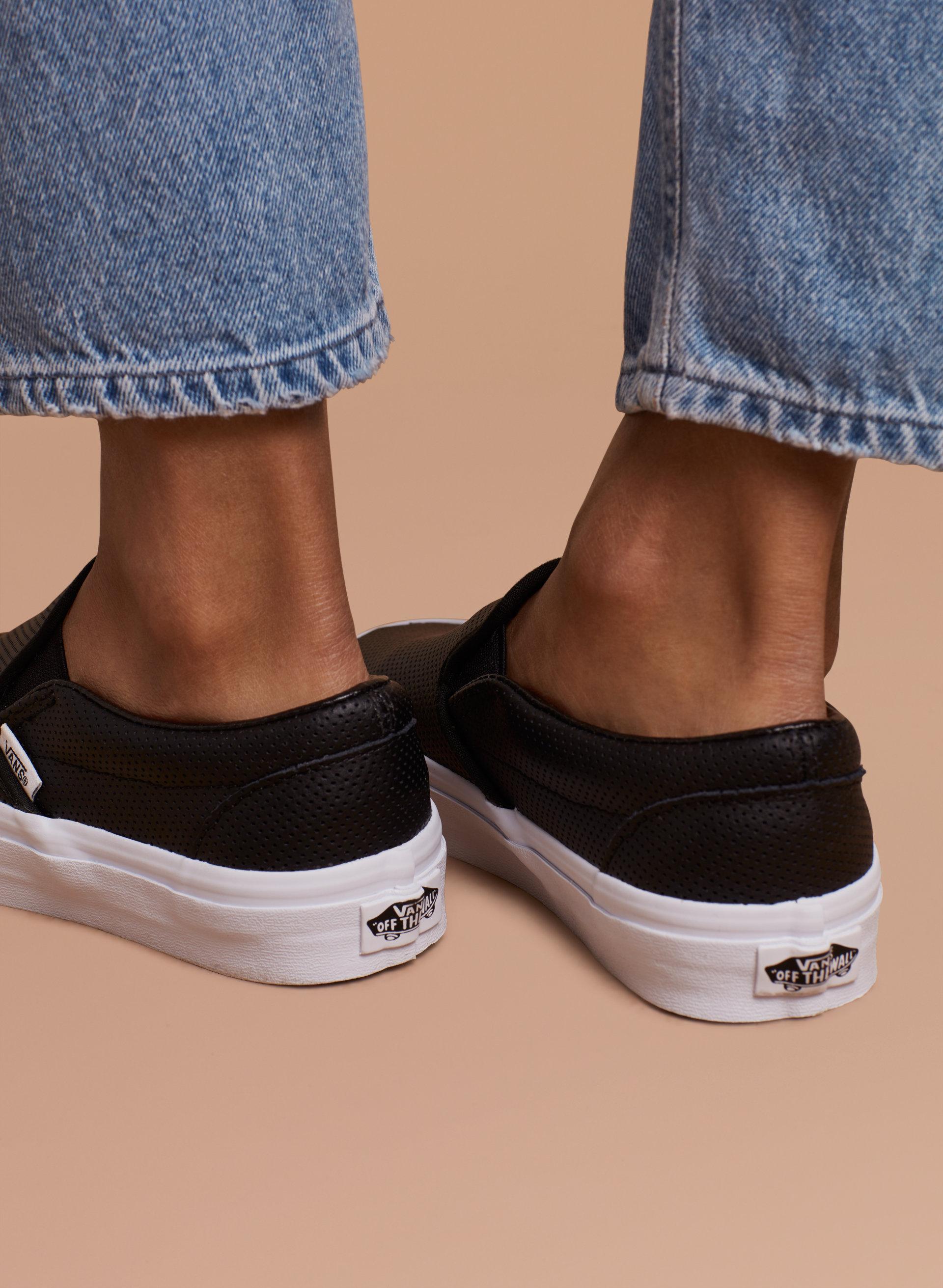 Vans slip on leather perf - Vans Slip On Perf Leather Aritzia