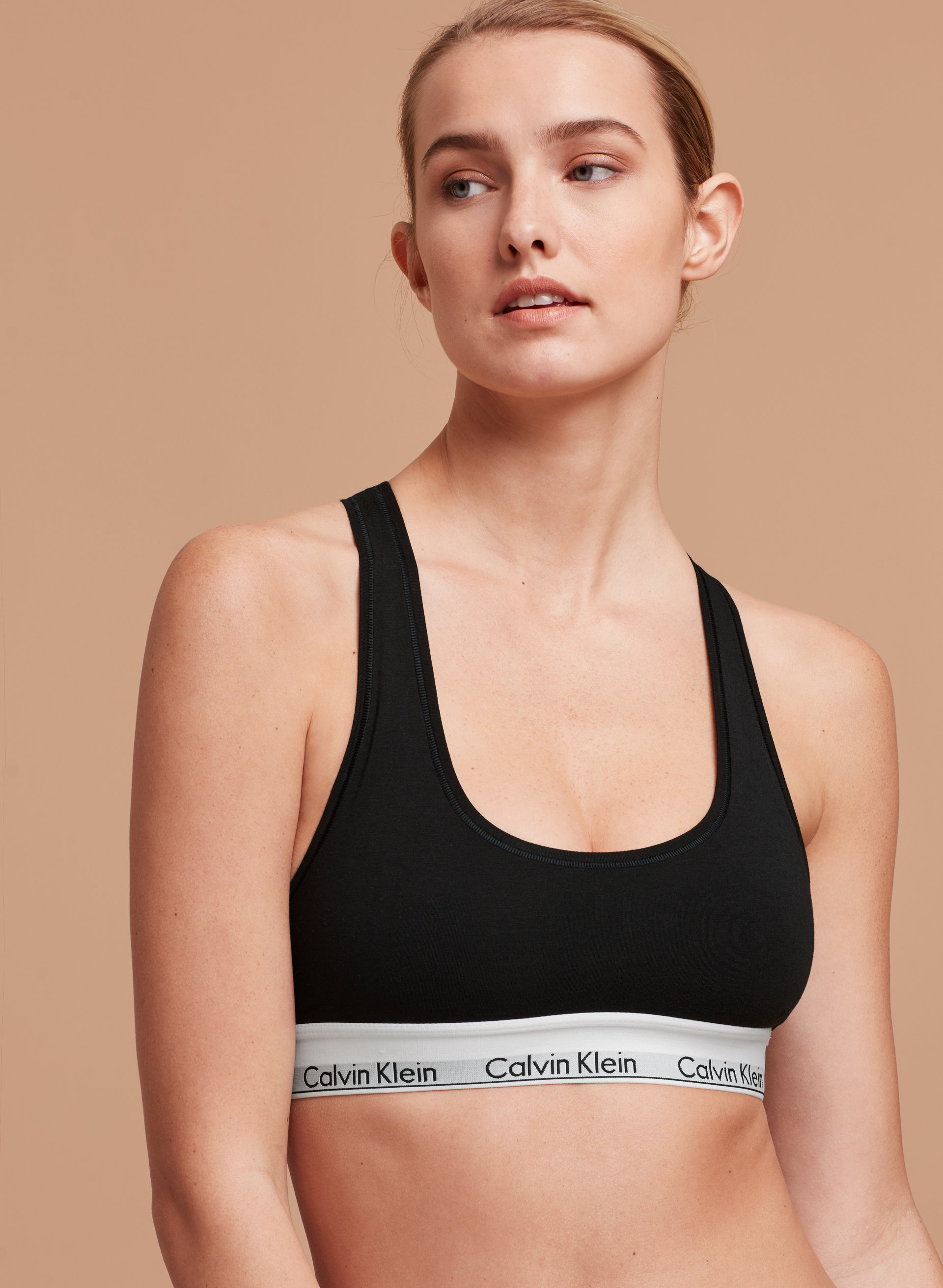calvin klein ck logo bra top aritzia. Black Bedroom Furniture Sets. Home Design Ideas