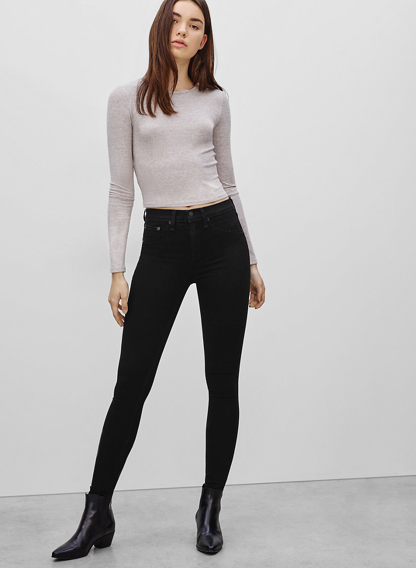 Rag & Bone/JEAN HIGH LEGGING BLACK | Aritzia