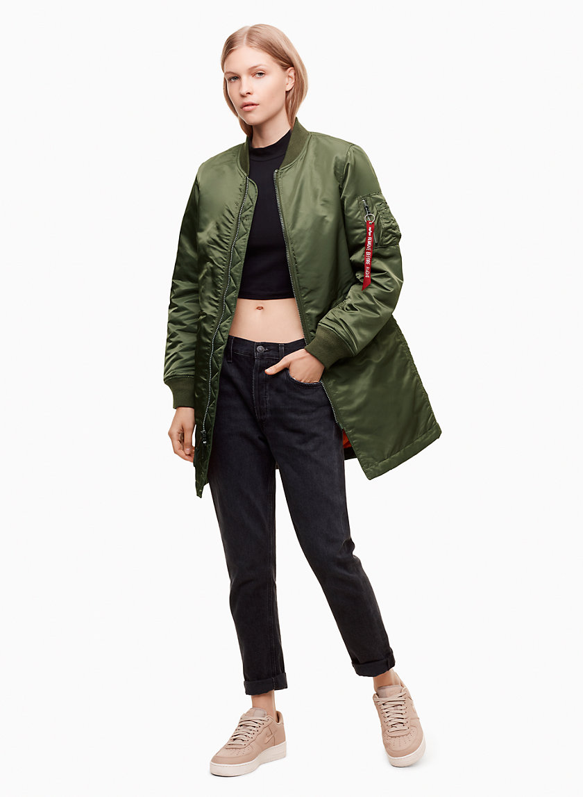 Alpha Industries MA 1 LONG W JACKET | Aritzia