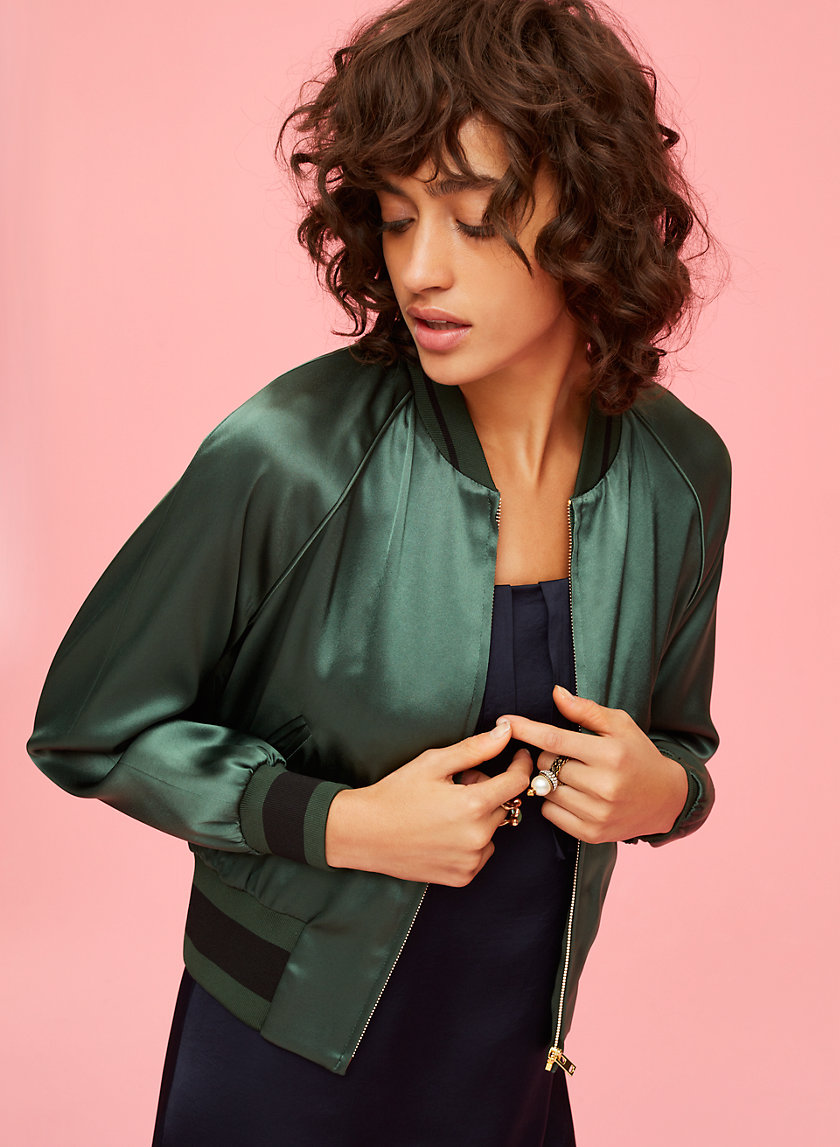 Little Moon ACANTHELLA BOMBER | Aritzia
