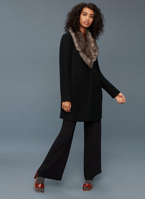 COCOON COAT WITH FUR | Aritzia