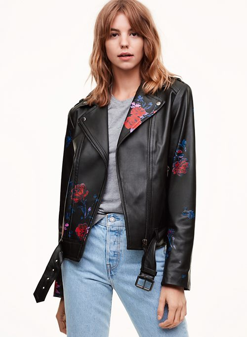 PAINTED FLORICA JACKET | Aritzia