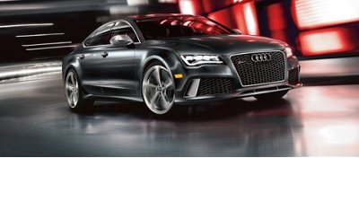 Audi RS7 shown in Daytona Gray pearl with available equipment