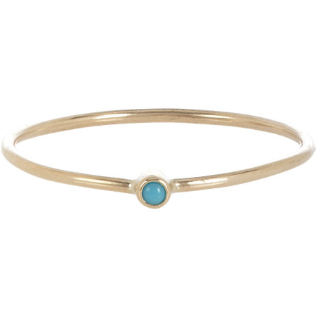Gold & Turquoise Thin Ring