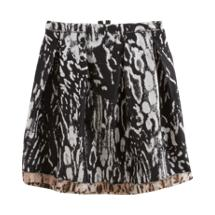 Lanvin - Animal Print Mini Skirt