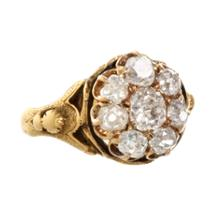 Olivia Collings Antique Jewelry Old Cut Diamond Cluster Ring