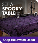 Set a Spooky Table - Shop Halloween Decor