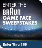 Enter the Braun Game Face Sweepstakes
