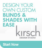 Design your own custom blinds and shades with Kirsch