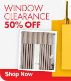 Window Clearance 50% Off