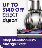Up to $140 off Select Dyson