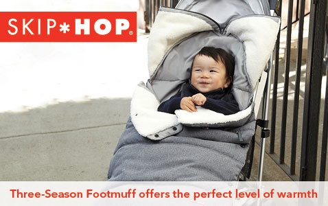 Three-Season Footmuff offers the perfect level of warmth.