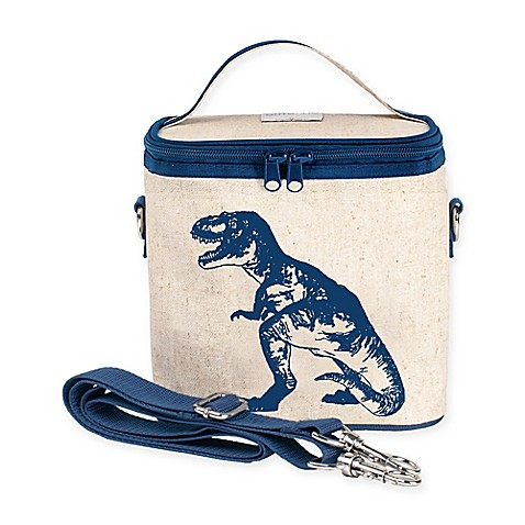 Soyoung raw linen blue dino cooler bag www buybuybaby com