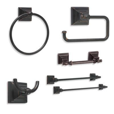 Amerock® Markham™ Oil-Rubbed Bronze Pivoting Double Post Tissue Roll Holder