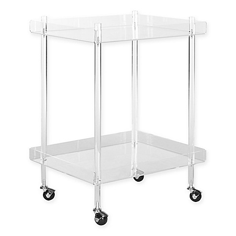 Safavieh Healy Acrylic Kitchen Cart in Clear
