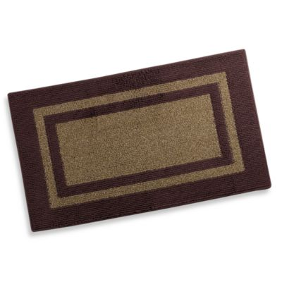 Metro Border 2-Foot x 5-Foot Accent Rug in Brown