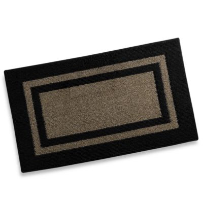 Metro Border 3-Foot 4-Inch x 5-Foot Accent Rug in Black