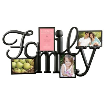 "Burnes of Boston 4-Opening ""Family"" Collage Photo Frame"