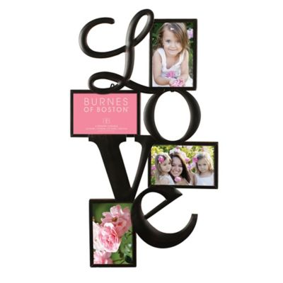 "Burnes of Boston 4-Photo ""Love"" Collage Frame"
