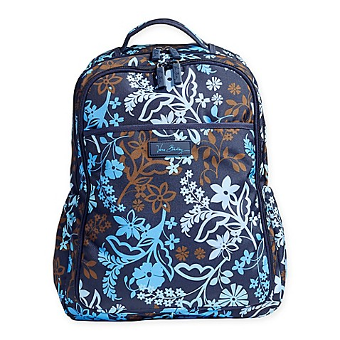 Vera Bradley 174 Lighten Up Backpack Baby Bag In Java Floral