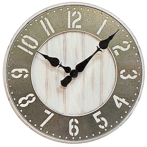 Sterling Amp Noble Wood Wall Clock Www Bedbathandbeyond Com