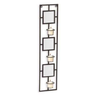 Wall Sconces Bed Bath And Beyond : Mirrored Three Votive Beveled Wall Sconce - Bed Bath & Beyond