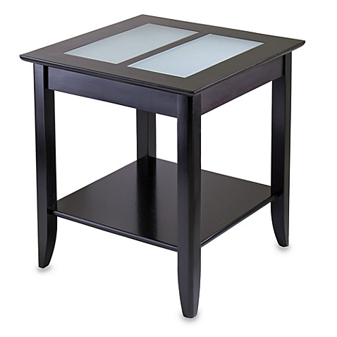 Loren End Table with Frosted Glass Tiles