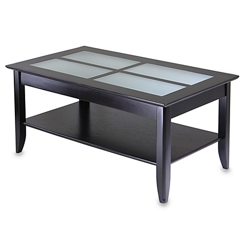Loren Coffee Table with Frosted Glass Tiles
