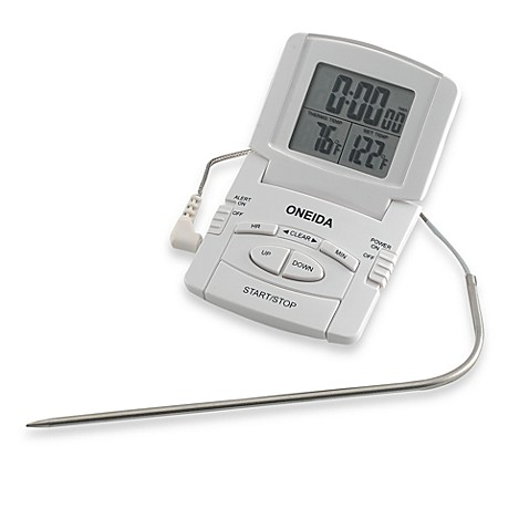 oneida digital probe cooking thermometer with timer bed bath beyond. Black Bedroom Furniture Sets. Home Design Ideas