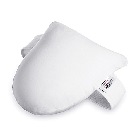 Sleepy kneeztm side sleeper knee pillow in white bed bath for Best pillow for side sleepers bed bath and beyond