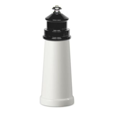 Fletchers' Mill Lighthouse 6-Inch Pepper Mill in White/Black