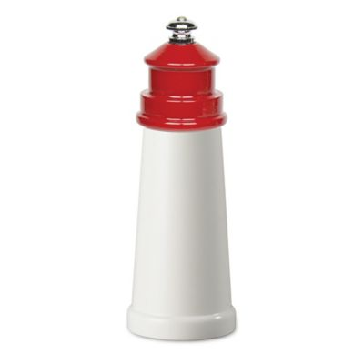 Fletchers' Mill Lighthouse 6-Inch Pepper Mill in White/Red