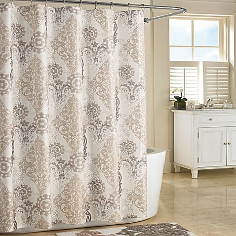Buy J Queen New York Galileo Shower Curtain Stall In Natural From Bed Bath Beyond