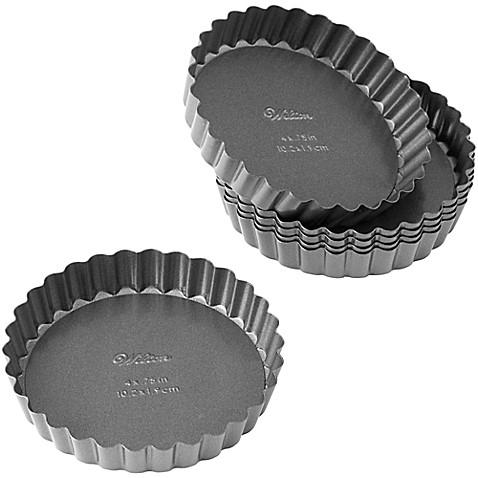 Wilton® Advance Select Premium Nonstick™ 4-Inch Tart/Quiche Pans (Set of 6)