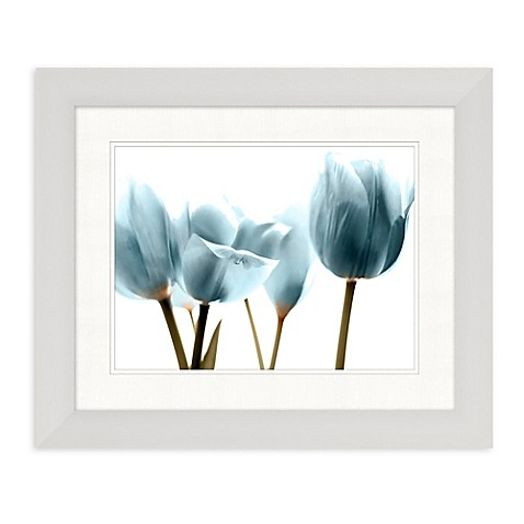 Blue X Ray Tulips Framed Wall Art Bed Bath Beyond