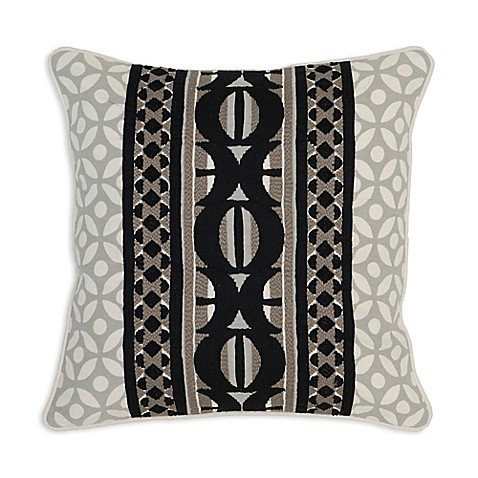 Black Throw Pillow For Bed : Villa Home Belo 18-Inch Square Throw Pillow in Black/Ivory - Bed Bath & Beyond