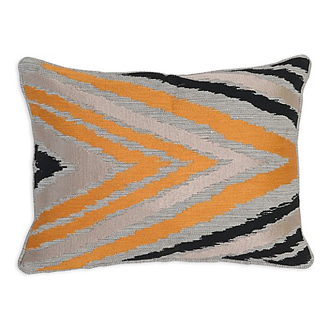 Orange Throw Pillows For Bed : Villa Home Clive Oblong Throw Pillow in Orange/Black - Bed Bath & Beyond