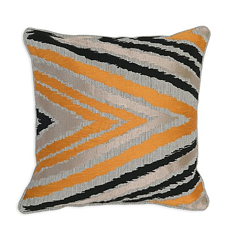 Bed Bath And Beyond Orange Throw Pillows : Buy Villa Home Lenny 18-Inch Square Throw Pillow in Orange/Black from Bed Bath & Beyond