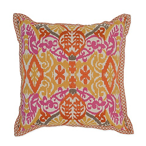 Orange Throw Pillows For Bed : Buy Villa Home Sunda 22-Inch Square Throw Pillow in Yellow/Pink/Orange from Bed Bath & Beyond